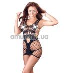 Комплект Mandy Mystery Deluxe Minikleid чёрный: платье + трусики-стринги - Фото №1