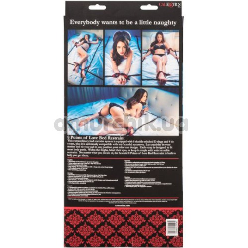 Бондажный набор Scandal 8 Points of Love Bed Restraint, черный