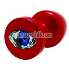 Анальная пробка с кристаллом SWAROVSKI в виде глаза Anni R Eye T2, красная - Фото №1