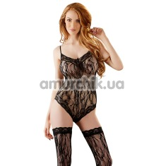 Комплект Body With Stockings 2641704 черный: боди + чулки - Фото №1