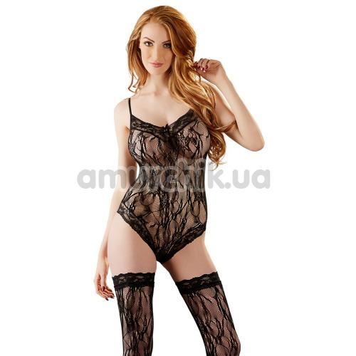 Комплект Body With Stockings 2641704 черный: боди + чулки