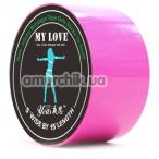 Бондажная лента Loveshop My Love, розовая - Фото №1