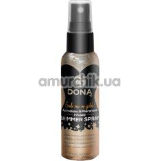 Спрей для тела с блестками DONA Shimmer Spray Gold, золотой - Фото №1
