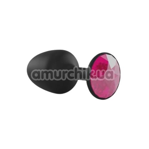 Анальная пробка с розовым кристаллом Dorcel Geisha Plug M, черная
