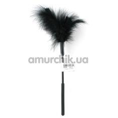 Перышко для ласк Sex & Mischief Feather Tickler, черное - Фото №1