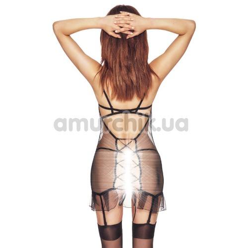 Комплект Anais Luxx чёрный: пеньюар + трусики-стринги