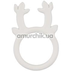 Эрекционное кольцо Penisring Rentier, белое - Фото №1