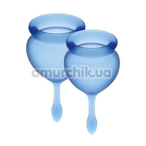Набор из 2 менструальных чаш Satisfyer Feel Good, синий - Фото №1