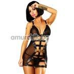 Комплект Lolitta Mirror Dress черный: комбинация + трусики-стринги
