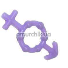 Эрекционное кольцо с шариками, фиолетовое - Фото №1