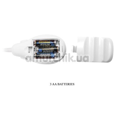 Вакуумная помпа с вибрацией для клитора Suction Vibrating Massager, белая