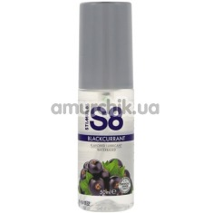 Оральный лубрикант Stimul8 Flavored Lube - черная смородина, 50 мл - Фото №1