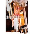 Комплект Leopard Bikini Set With Lacing: бюстгальтер + трусики-стринги - Фото №1