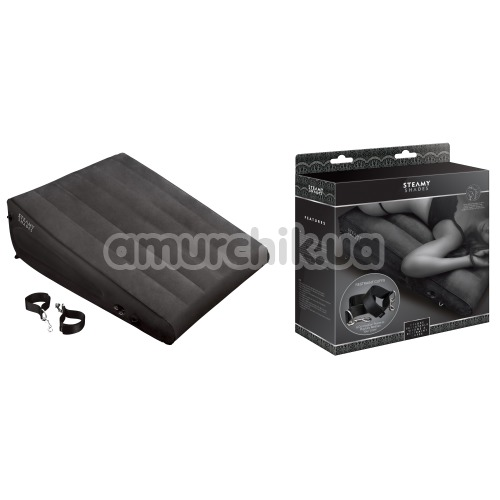 Набор Steamy Shades Deluxe Inflatable Wedge & Restraint Cuffs, черный