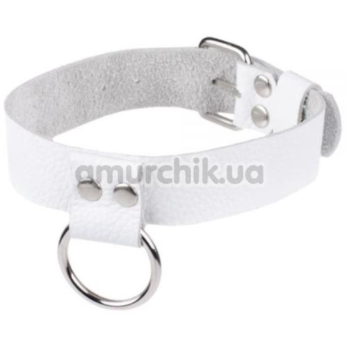 Ошейник sLash Ring of Humiliti, белый - Фото №1