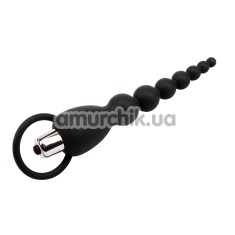 Анальная цепочка с вибрацией Black Mont Elite Power Beads, черная - Фото №1