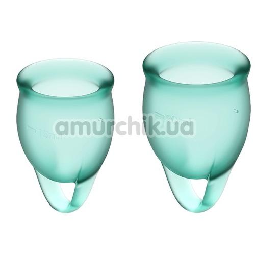 Набор из 2 менструальных чаш Satisfyer Feel Confident, темно-зеленый