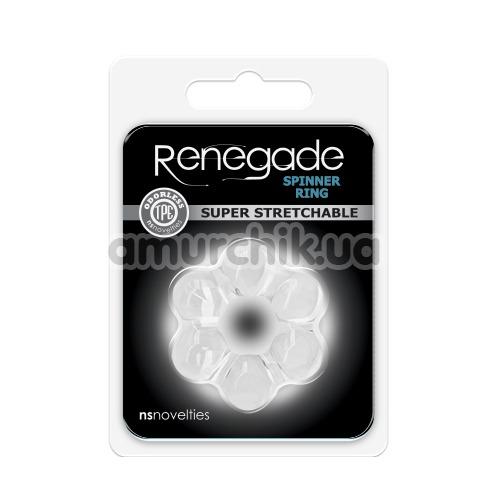 Эрекционное кольцо Renegade Spinner Ring Super Stretchable, прозрачное