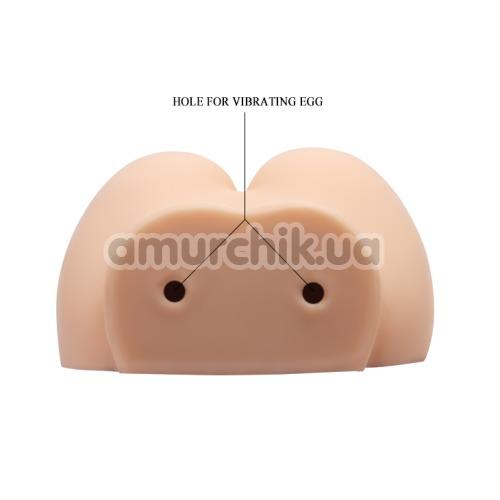 Искусственная вагина и анус с вибрацией Crazy Bull Vagina And Ass Busty Butt, телесная