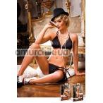 Комплект Black Bikini Set: бюстгальтер + трусики-стринги (модель B240) - Фото №1
