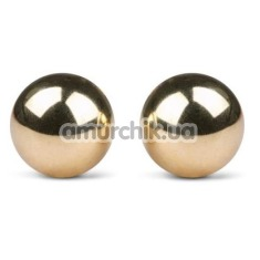 Вагинальные шарики Easy Toys Ben Wa Golden Exercise Balls 22 mm, золотые - Фото №1