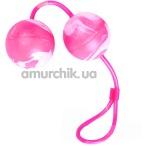 Вагинальные шарики Oscilating Duo Balls, розовые - Фото №1