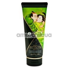 Крем для массажа Shunga Kissable Massage Cream Pear & Exotic Green Tea - груша и зеленый чай, 200 мл - Фото №1