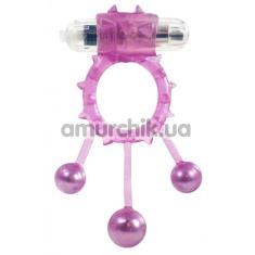 Виброкольцо Linx Ball Banger Vibrating Cock Ring, розовое
