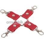Ремешки для фиксаторов sLash Leather Fixer, красные - Фото №1