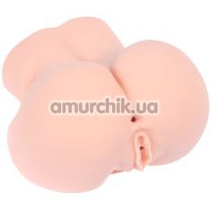 Искусственная вагина и анус с вибрацией Kokos Oknyeo, телесная - Фото №1