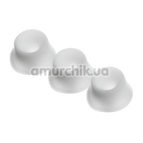 Набор насадок на симулятор орального секса для женщин Womanizer W500, Pro 40, +Size, Starlet (Size M), белый