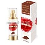 Массажное масло с феромонами Aphrodisiac Warming Massage Oil Attraction Chocolate с согревающим эффектом - шоколад, 30 мл - Фото №1