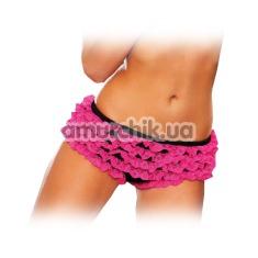 Трусики-шортики женские Ruffle Booty Shorts черно-розовые (модель EP100) - Фото №1
