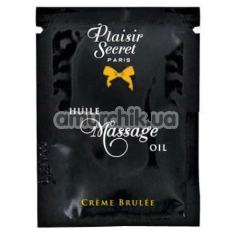 Массажное масло Plaisirs Secrets Paris Huile Massage Oil Creme Brulee - крем-брюле, 3 мл - Фото №1