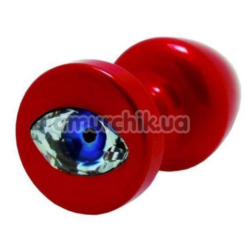 Анальная пробка с кристаллом SWAROVSKI в виде глаза Anni R Eye T1, красная - Фото №1