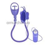 Вакуумная помпа для клитора Advanced Butterfly Clitoral Pump, фиолетовая - Фото №1