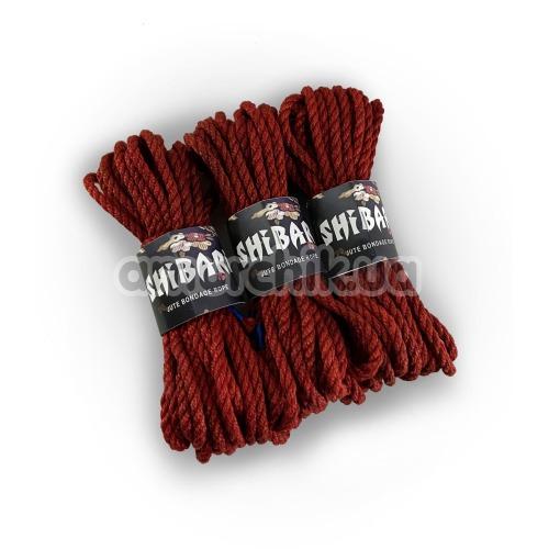 Веревка Feral Feelings Shibari 8м, бордовая