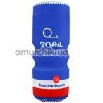 Мастурбатор с вибрацией Snail Cup Dancing Queen MA0928E, синий - Фото №1