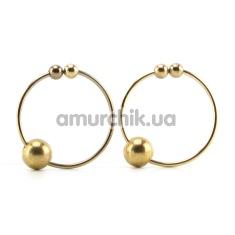 Украшения для сосков Nipple Bull Rings, золотые