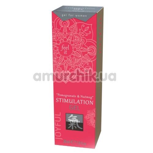 Гель для стимуляции клитора Shiatsu Stimulation Gel Pomegranate & Nutmeg, 30 мл