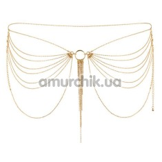 Украшение для тела Bijoux Indiscrets The Magnifique Collection Waist Chain, золотое - Фото №1