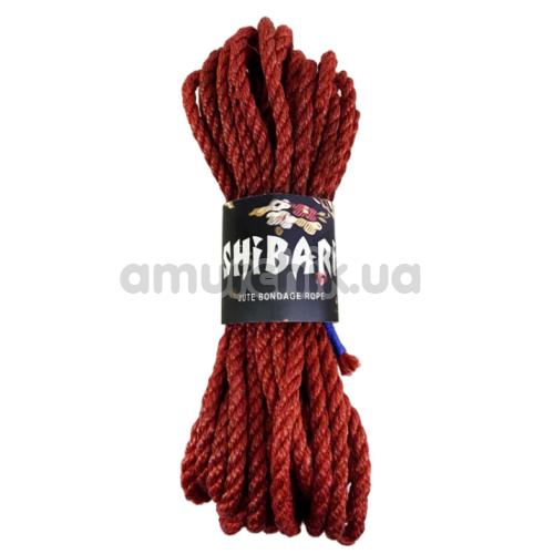 Веревка Feral Feelings Shibari 8м, бордовая - Фото №1