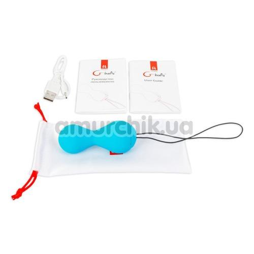 Вагинальные шарики Gballs 2 App - Lagoon, голубые