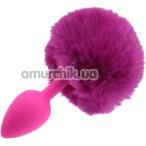Анальная пробка со светло-розовым хвостиком Honey Bunny Tail, розовая - Фото №1