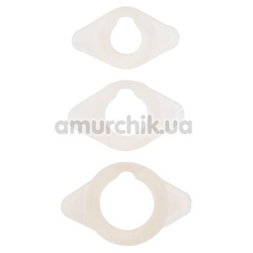 Набор и 3 эрекционных колец Frohle LR004, белый - Фото №1