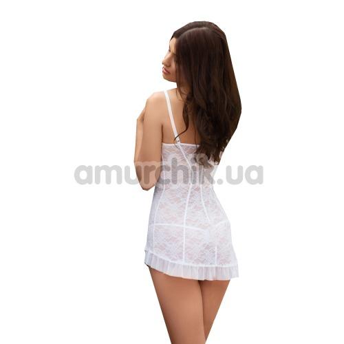 Комплект Grace белый: комбинация + трусики-стринги
