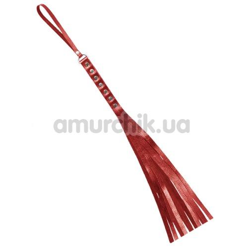 Плеть S&M Fancy Leather Flogger 130, красная - Фото №1