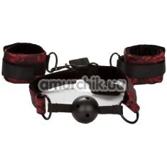 Бондажный набор Scandal Breathable Ball Gag With Cuffs, черный