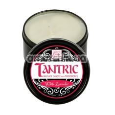 Cвеча для массажа с феромонами Tantric White Lavender - белая лаванда, 113 мл - Фото №1