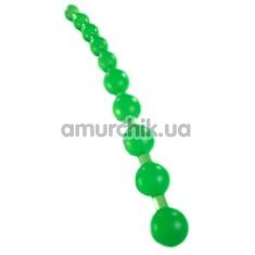 Анальные бусы Jumbo Jelly Thai Beads салатовые - Фото №1